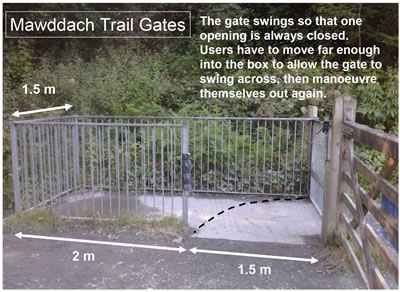 The gates on the Mawddach Trail can be a problem for less able bike riders